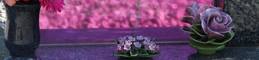 Porseleinen bloem 17 cm