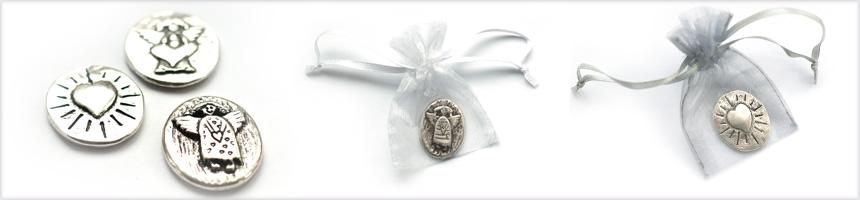 Engel pin, sleutelhanger, muntje
