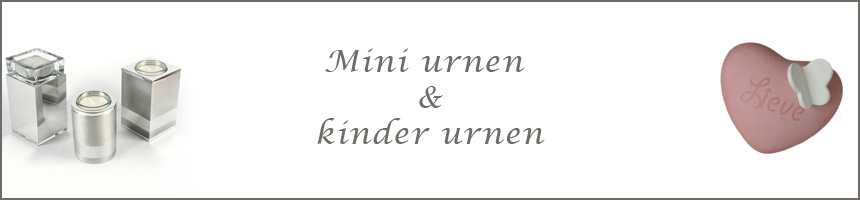 Kinder- en mini urnen