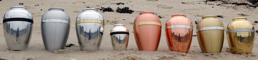 Metalen urnen