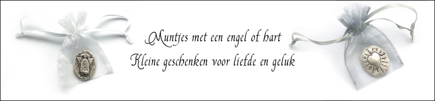 Muntje met engel of hart