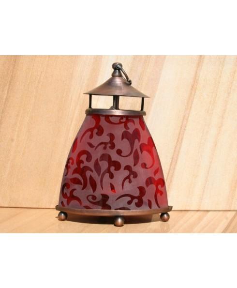 Waxinelamp rood