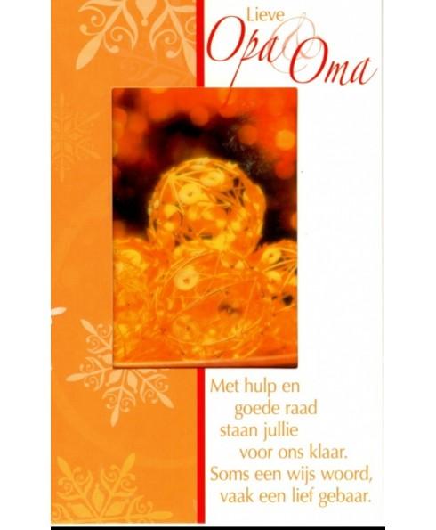 Lieve Opa en Oma, kerst.