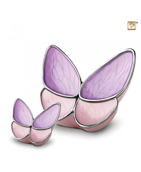 Vlinderurn roze