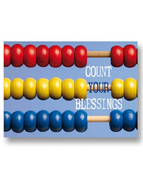 Postkaart Count your blessings