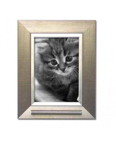 Fotolijst huisdier zilverkleur met as voorziening