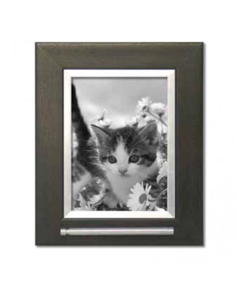 Fotolijst huisdier met asbuis donker bruin