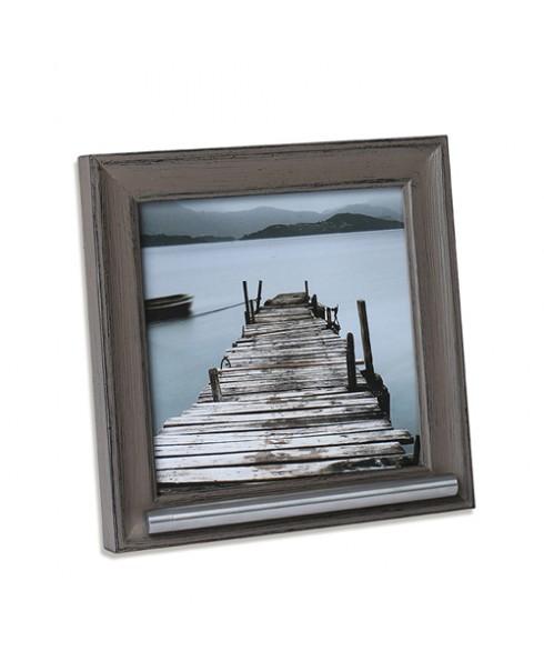 Fotolijst met een as voorziening, grijs/bruin.