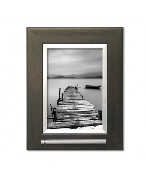 Fotolijst met as voorziening donker bruin