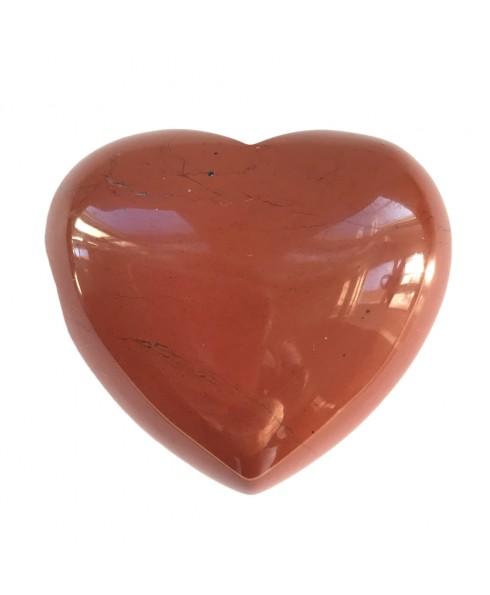 Rode jaspis gedenk hart