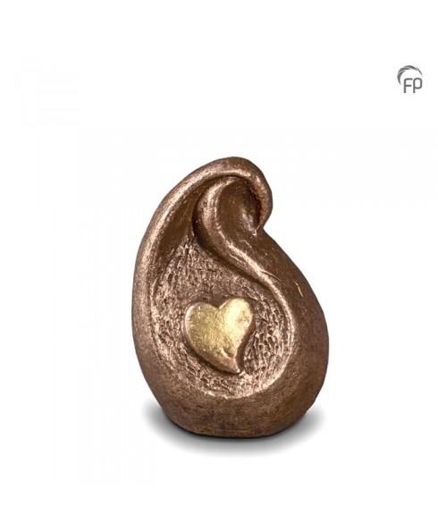 Mini urn druppel met hart