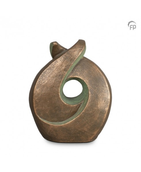 Licht brons urn