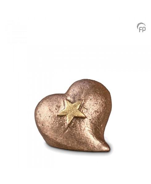 Mini urn hart met ster
