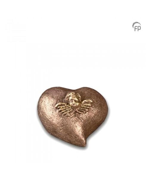 Mini urn hart met engel