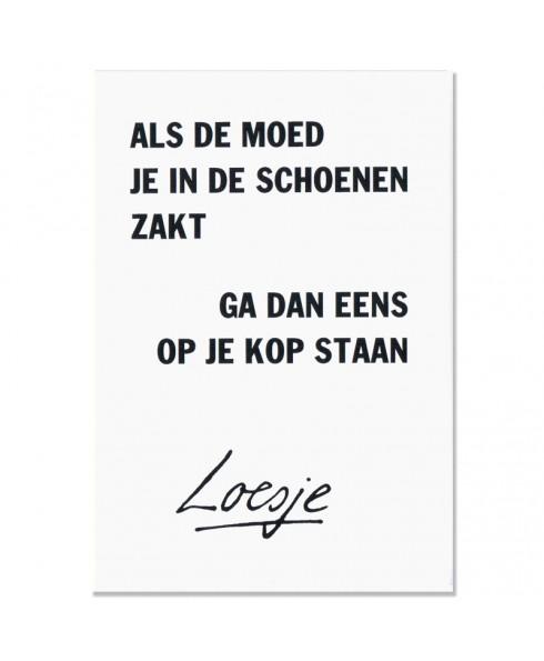 Postkaart Loesje Moed