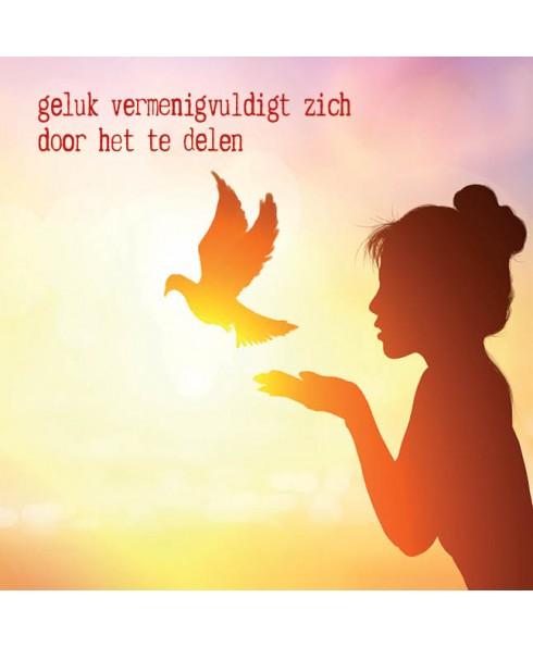 Wenskaart Geluk