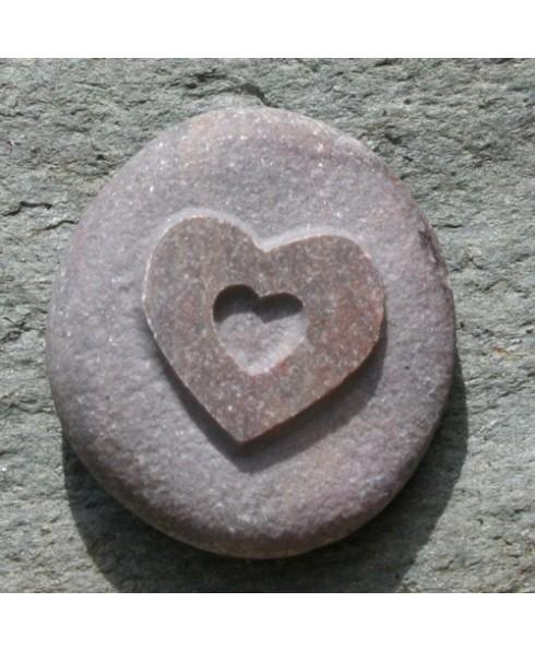 Open hart steentje