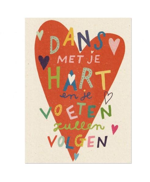 Postkaart dans met je hart