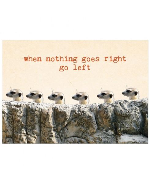 Postkaart Go left