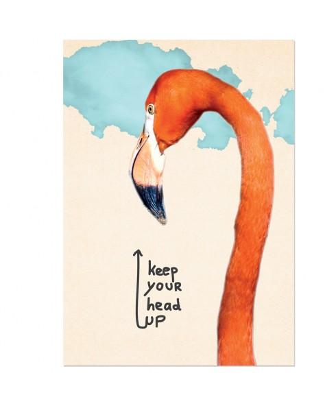 Postkaart keep you head up