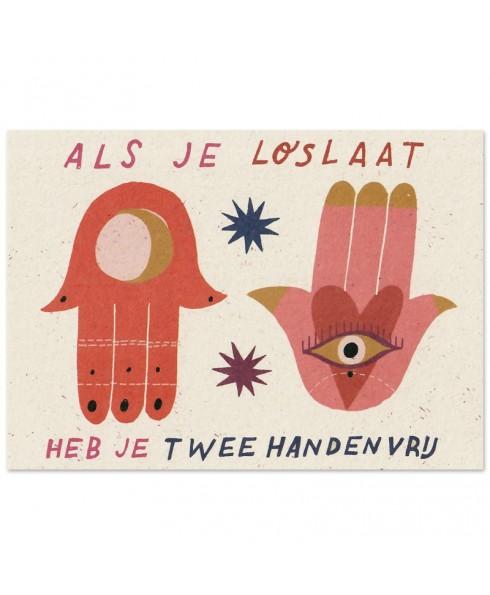 Postkaart loslaten