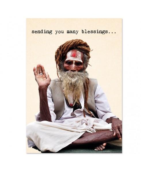 Postkaart many blessings