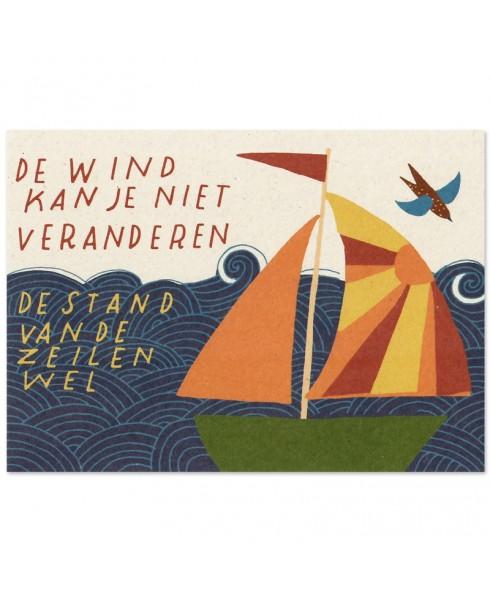 Postkaart stand van de zeilen