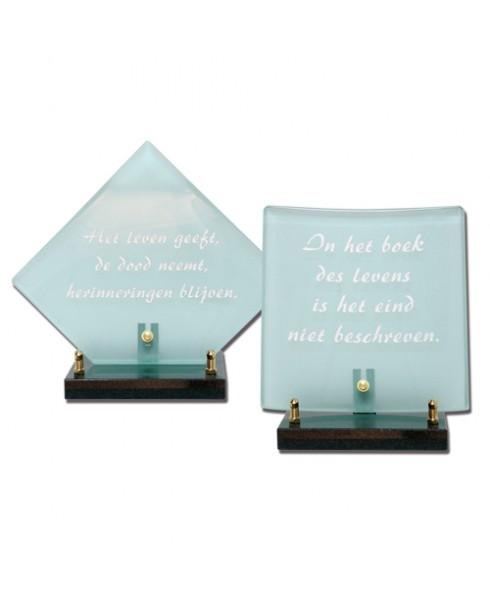 Gebogen glas vierkant, wieber