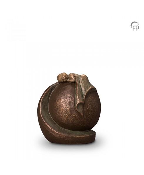 Vredige rust brons urn