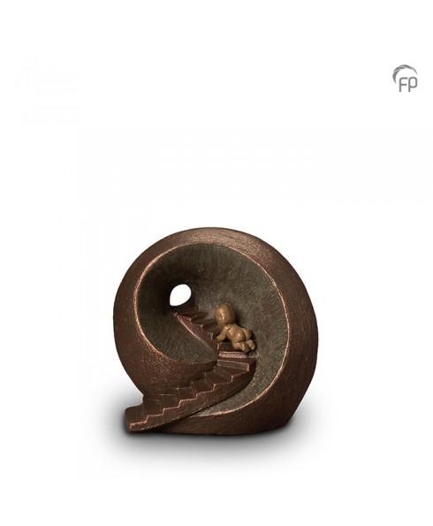 Oneindige tunnel brons urn