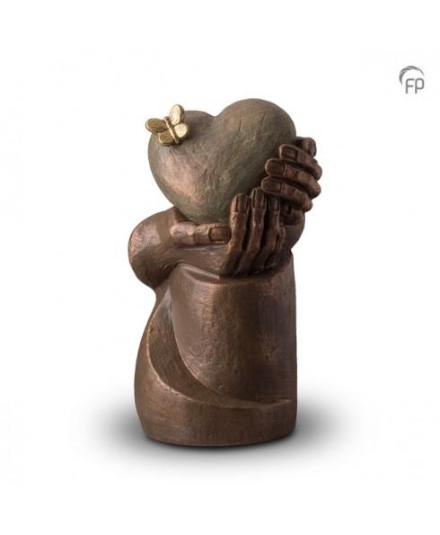 Hartepijn op zuil brons urn