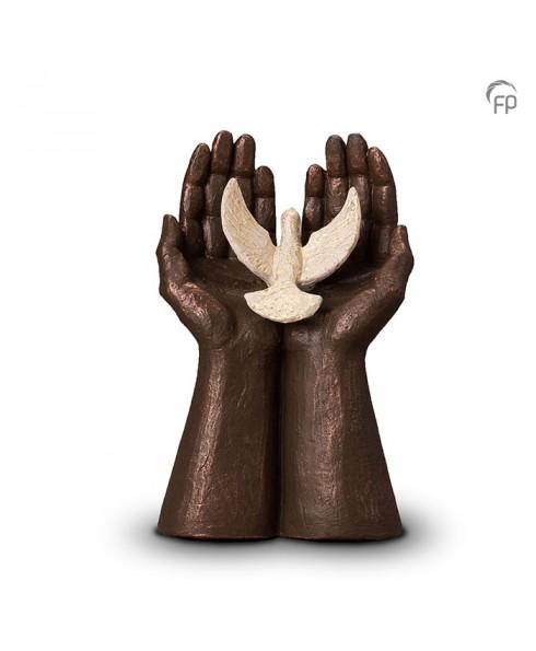 Vrijheid brons urn