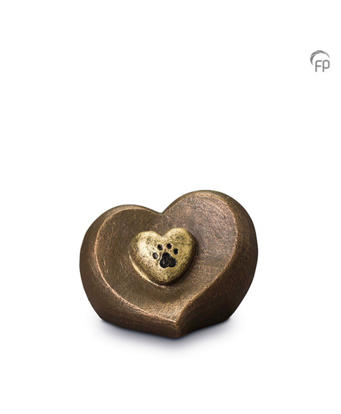 Hart pootafdruk brons