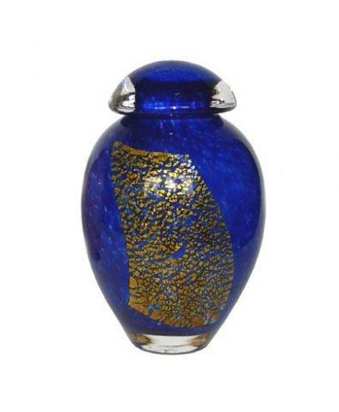 Mini urn Blue Gold
