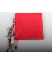 Dagboek rood, suede.