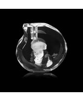 Ronde kristallen urn