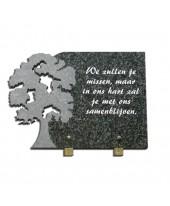 Tekstplaat met boom