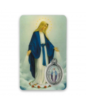 Gebedskaartje Maria kleur