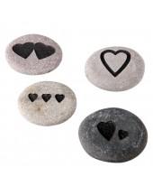 Harten steen gravure