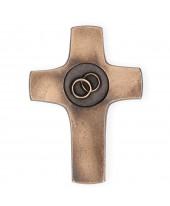Huwelijks kruis brons
