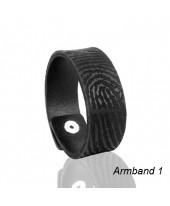 Leren armband met afdruk