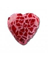 Mozaik hart, rood.