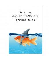 Postkaart be brave
