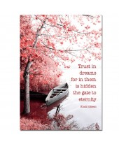 Postkaart Trust in dreams