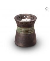 Kaarsenhouder urn metallic
