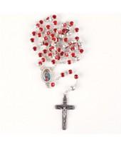 Rode rozenkrans glas