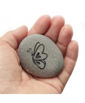 Vlinder gravure grijs