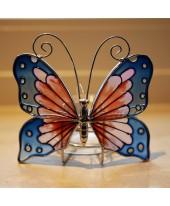 Vlinder licht Tiffany roze