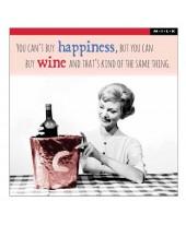 Wenskaart can't buy happiness