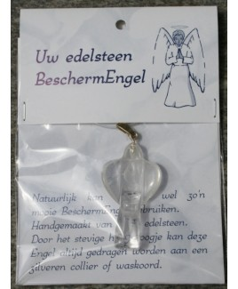 Bescherm engel hanger, bergkristal.